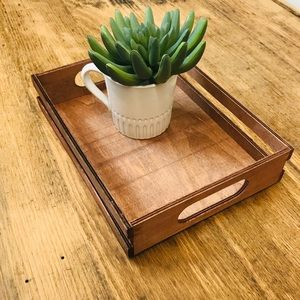 Other - Wooden Decorative Tray Nice Accent Piece Light